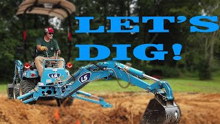 Learn To Operate A Backhoe! Tony's Tractor Adventure teaches me how!