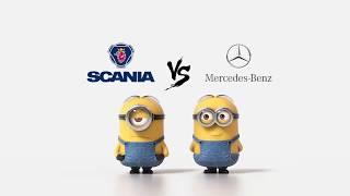 Scania vs Mercedes Minions Style ( Funny )