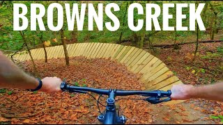Riding at Browns Creek Bike Park in North Carolina, amazing hills and features!