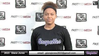 2023 Giana Jones 4.16 GPA, Athletic Middle Infielder & Outfield Softball Skills Video - Ca Grapettes