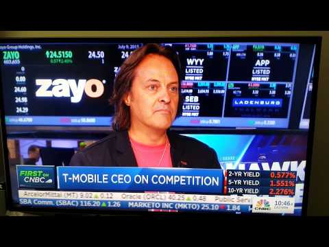 John Legere disses Sprint CEO on CNBC