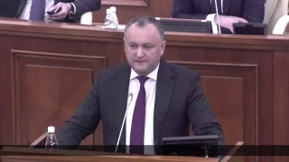 Жесткое выступление Додона в парламенте на открытии сессии