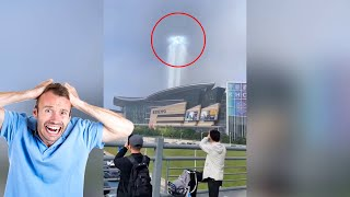 Mystery surrounds strange giant-like pillar of light in skies