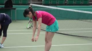 佐藤朱の準備体操@靱テニスセンター21周年記念テニスクリニック