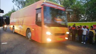 Convoy Of IPL Team SUNRISERS HYDERABAD