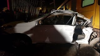 Train crashes into a car north of Durban