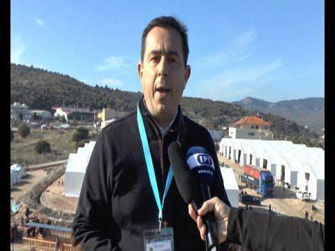 Μυτιλήνη: Αυτοψία Ν. Μηταράκη στο προσωρινό ΚΥΤ στον Καρά Τεπέ