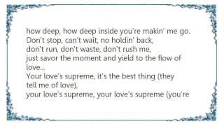 Chanté Moore - Your Love's Supreme Lyrics