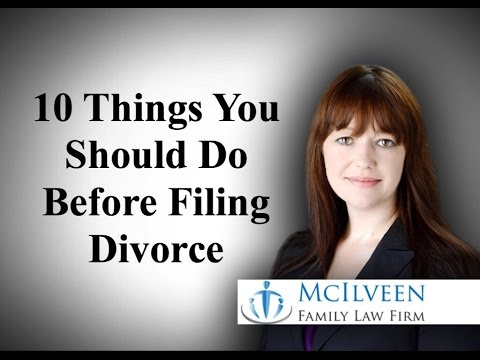 Top 10 Things You Should Do Before Filing for Divorce in North Carolina