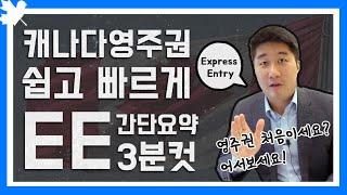 #1 Express Entry 3분 컷ㅣ캐나다 영주권ㅣ처음 들어보는 사람ㅣ바로 드루와