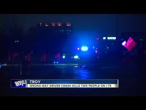 Wrong-way driver crash kills 2 on I-75