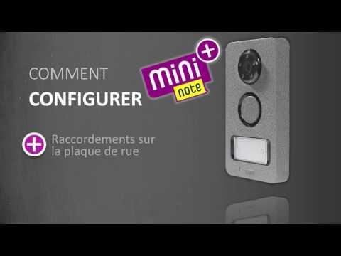 Mini Note Plus : installation du vidéophone