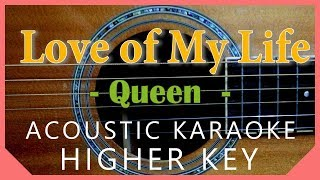 love of my life queen karaoke acoustic lower key - TH-Clip