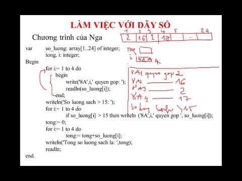 Tuần 25_Chủ đề 10: Làm việc với dãy số (phần 2)
