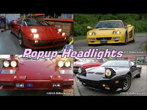 Pop Up Headlights are Old School Cool
