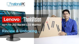 Lenovo ThinkVision S27i-10 Full HD IPS 27-inch LED Backlit LCD Monitor Review and Unboxing