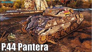 P.44 Pantera ВНИЗУ СПИСКА 🌟 медаль Николса 🌟 World of Tanks лучший бой на ст 8 Италии