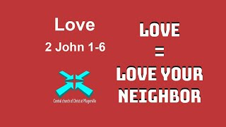 Love – Lord's Day Sermons – 23 Aug 2020 – 2 John 1-6