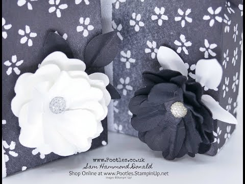 How to make a Crinkled Flower Tutorial using Stampin' Up! Pansy Punch