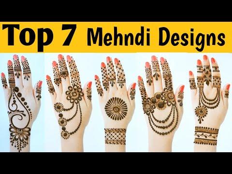 beautiful easy back hand mehndi design video