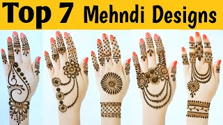 7 Most Beautiful Easy & Stylish Back Hand Mehndi Designs - New Simple Mehandi Ke Designs 2020