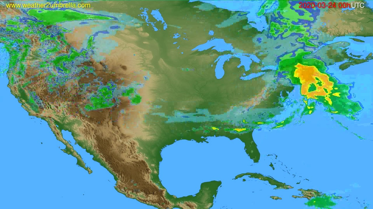 Radar forecast USA & Canada // modelrun: 12h UTC 2020-03-23