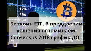 Биткоин ETF В преддверии решения вспоминаем Consensus 2018 график ДО. Курс биткоина