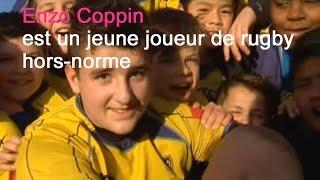 Enzo, 11 ans, 96 kilos pour 1,84 m, joueur de rugby à l'ASM
