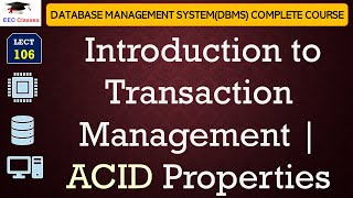 Transaction Management, ACID Properties in DBMS(English|Hindi)