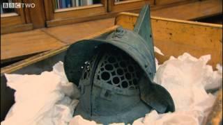 Mary Beard Shows Us a Roman Gladiator's Helmet - Meet the Romans with Mary Beard - BBC Two