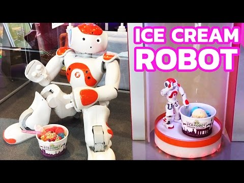 Would you like to taste an ice cream made by robot?