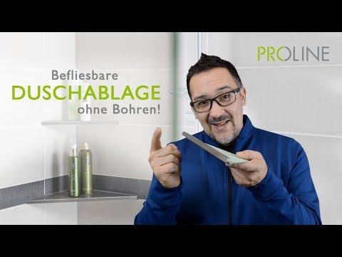 PROSHELF: Befliesbare Duschablage aus Edelstahl schafft Ordnung im Bad
