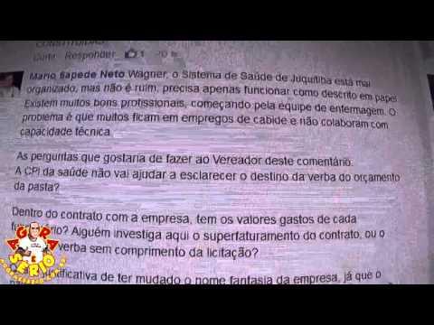 Dr Mário Sapede Neto faz denúncias no Facebook para o Vereador Wilhians Soares
