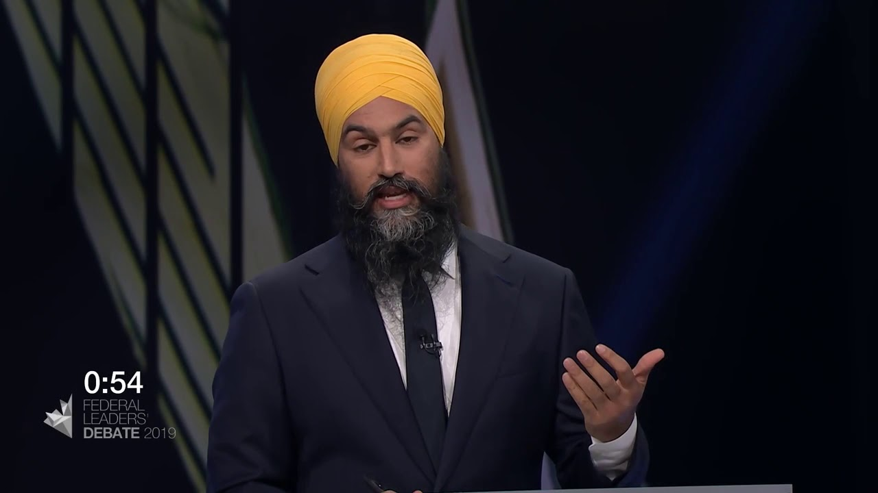 Jagmeet Singh answers a question about Quebec's secularism law