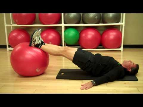 Exercise Ball Shoulder Bridge