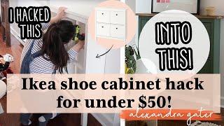 DIY Ikea Shoe Cabinet Hack For Under $50 | Hemnes Ikea Hack