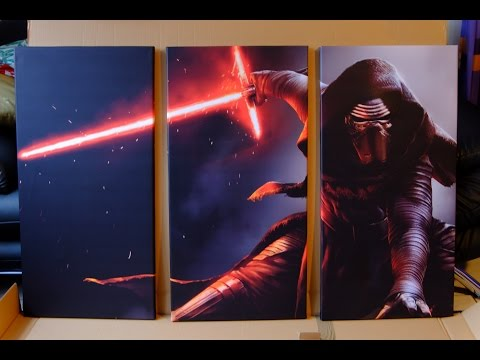 Star Wars Leinwand, Kylo Ren [3-teilig, 120x80cm] (Review) | Nerdy Testing