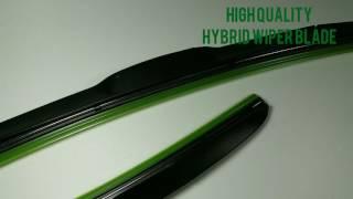 Wiper Mobil HYBRID KIJANG KRISTAL RAIN MASTER 2Pcs KN-KR Hybrid Wiper Blade