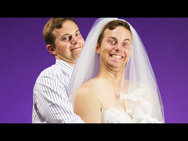 What Happens When Guys Try On Wedding Dresses For The First Time