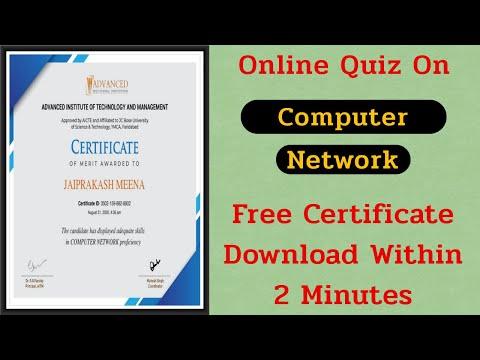 Computer Network Free Certificate || Online Quiz Free Certificate ...