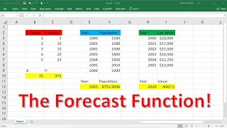 Excel Forecast Function Explained!