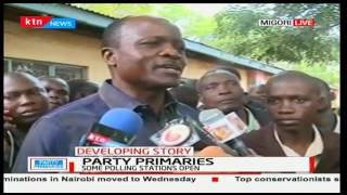 Governor Okoth Obado says voting in some of his strongholds have delayed