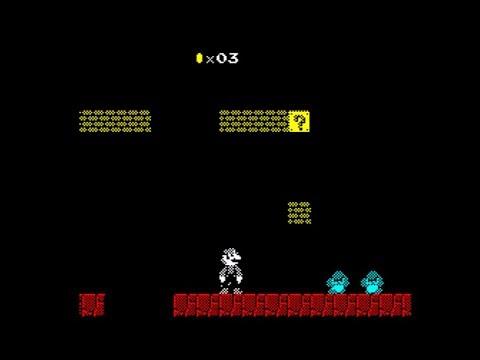 Super Mario Bros, 128K (Demo) Walkthrough, ZX Spectrum
