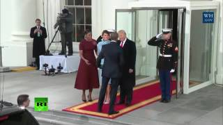 Obamas greet the Trumps ahead of inauguration
