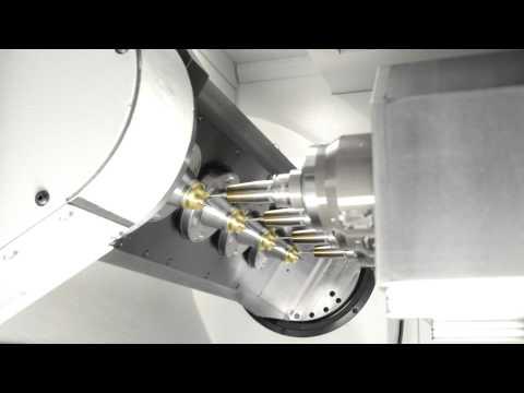 BA 342: Vierspindlige 5-Achs-Simultanbearbeitung