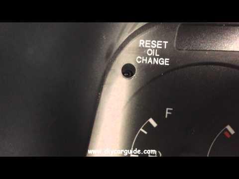 Toyota Hiace Oil Change Reminder Light Reset