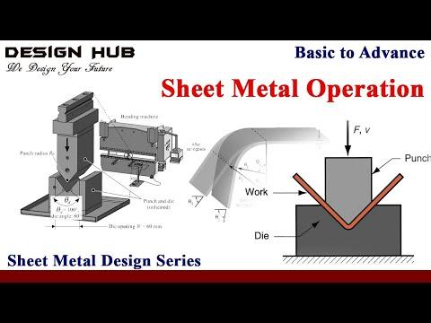 Sheet metal operation-part 1|sheet metal design series|