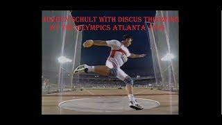Jurgen Schult at the Olympics Atlanta 1996