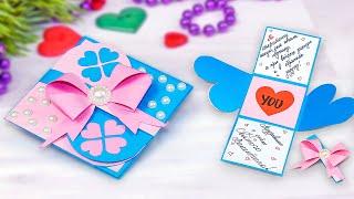 Как сделать открытку на Валентинов день