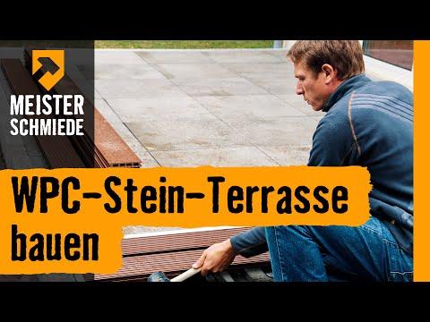 WPC-Stein-Terrasse bauen   HORNBACH Meisterschmiede